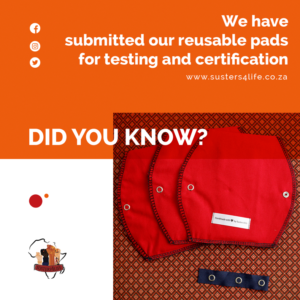 We Have Submitted Our Reusable Pads for Testing and Certification